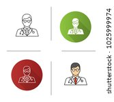 doctor icon. flat design ... | Shutterstock . vector #1025999974