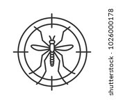 mosquitoes target linear icon.... | Shutterstock . vector #1026000178