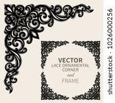 floral frame border. decorative ... | Shutterstock .eps vector #1026000256