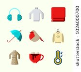 icons about winter with winter...   Shutterstock .eps vector #1026000700