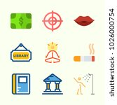 icons about lifestyle with... | Shutterstock .eps vector #1026000754