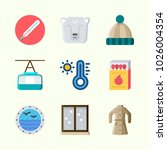 icons about winter with coat ...   Shutterstock .eps vector #1026004354