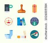 icons about lifestyle with wc ... | Shutterstock .eps vector #1026005584