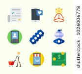 icons about lifestyle with yoga ... | Shutterstock .eps vector #1026006778