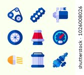 icons about car engine with... | Shutterstock .eps vector #1026008026
