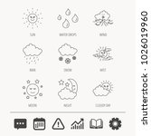 weather  sun and rain icons.... | Shutterstock .eps vector #1026019960