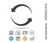 update icon. refresh or repeat... | Shutterstock .eps vector #1026021514