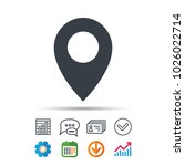 location icon. map pointer... | Shutterstock .eps vector #1026022714