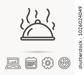 restaurant cloche platter icon. ... | Shutterstock .eps vector #1026024049