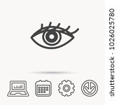eye icon. human vision sign.... | Shutterstock .eps vector #1026025780