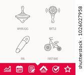 first bike  whirligig and... | Shutterstock .eps vector #1026027958