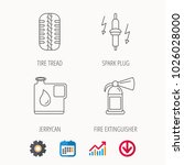 wheel  fire extinguisher and... | Shutterstock .eps vector #1026028000