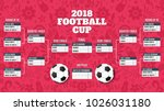 table of results for football... | Shutterstock .eps vector #1026031180