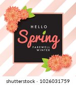 modern promotion hello spring... | Shutterstock .eps vector #1026031759