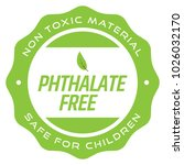 phthalate free badge | Shutterstock .eps vector #1026032170