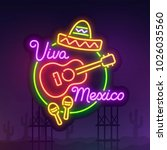 night city sign neon. cinco de... | Shutterstock .eps vector #1026035560