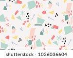 graphic pattern vector print | Shutterstock .eps vector #1026036604