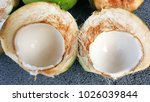 young green coconuts with... | Shutterstock . vector #1026039844