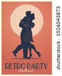 Retro Party Poster. Silhouette...