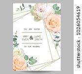 wedding invitation. design of...   Shutterstock .eps vector #1026054619