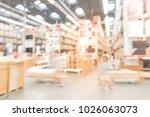 abstract blur customer shopping ... | Shutterstock . vector #1026063073