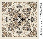 vector ornament paisley bandana ... | Shutterstock .eps vector #1026065224