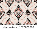 seamless pattern based on... | Shutterstock .eps vector #1026065230