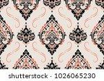 seamless pattern based on... | Shutterstock .eps vector #1026065230