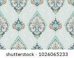 seamless pattern based on... | Shutterstock .eps vector #1026065233