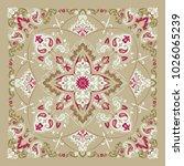 vector ornament paisley bandana ... | Shutterstock .eps vector #1026065239