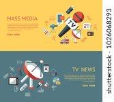 digital mass media objects... | Shutterstock .eps vector #1026068293