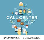 digital call center and... | Shutterstock .eps vector #1026068308