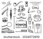 gentleman accessories set.... | Shutterstock .eps vector #1026072850