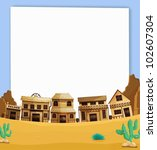 illustration of wild west on... | Shutterstock .eps vector #102607304
