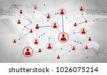 background image with social... | Shutterstock . vector #1026075214