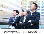 smart team of business people...   Shutterstock . vector #1026079510