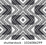 geometric folklore ornament.... | Shutterstock .eps vector #1026086299