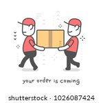 fast delivery service. vector... | Shutterstock .eps vector #1026087424