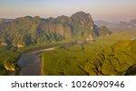 aerial view of ao thalane near...   Shutterstock . vector #1026090946