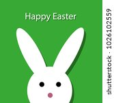 happy easter card | Shutterstock .eps vector #1026102559