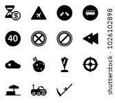 solid vector icon set   account ... | Shutterstock .eps vector #1026102898