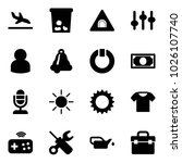 solid vector icon set   arrival ...
