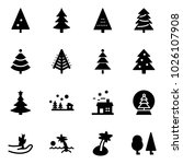 solid vector icon set  ... | Shutterstock .eps vector #1026107908