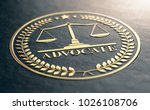 3d illustration of an advocate... | Shutterstock . vector #1026108706