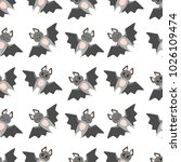 bat seamless vector pattern... | Shutterstock .eps vector #1026109474