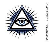 all seeing eye  the eye of... | Shutterstock . vector #1026112240