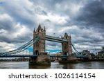 tower bridge  an iconic symbol... | Shutterstock . vector #1026114154