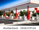 isolated petrol staion for self ... | Shutterstock . vector #1026119116