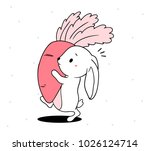 vector illustration of lovely... | Shutterstock .eps vector #1026124714
