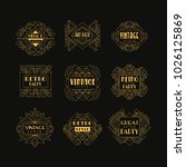 set of art deco badges.... | Shutterstock .eps vector #1026125869